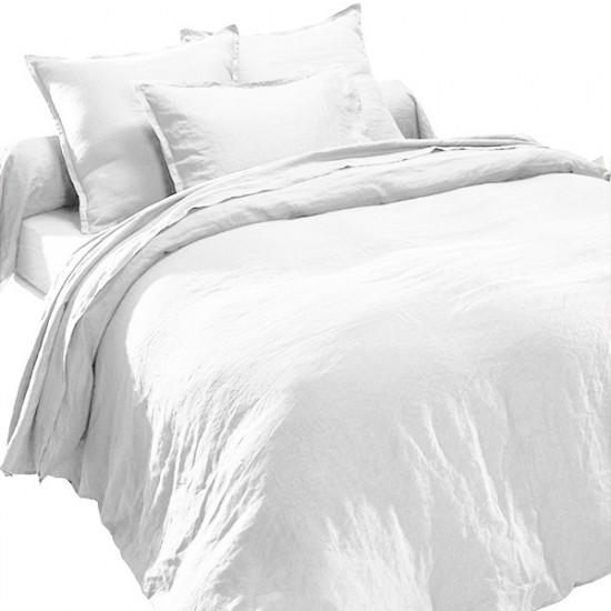 housse de couette lin lav blanc. Black Bedroom Furniture Sets. Home Design Ideas