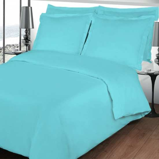 PERCALE TURQUOISE 240x280 Unie Percale Turquoise 80 fils/cm2