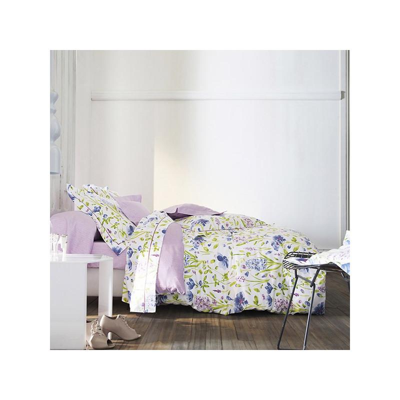Parure de draps 4 pieces sanderson garden flowers lilas for Parure draps
