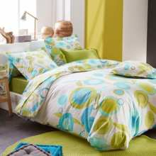 Housse de Couette Olly Menthe 220x240 + 2 taies 65x65