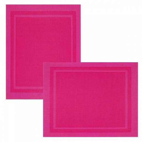 Lot de 6 Sets de Tables Bicolore Fushia