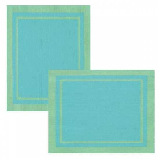 Lot de 6 Sets de Tables Bicolore Turquoise