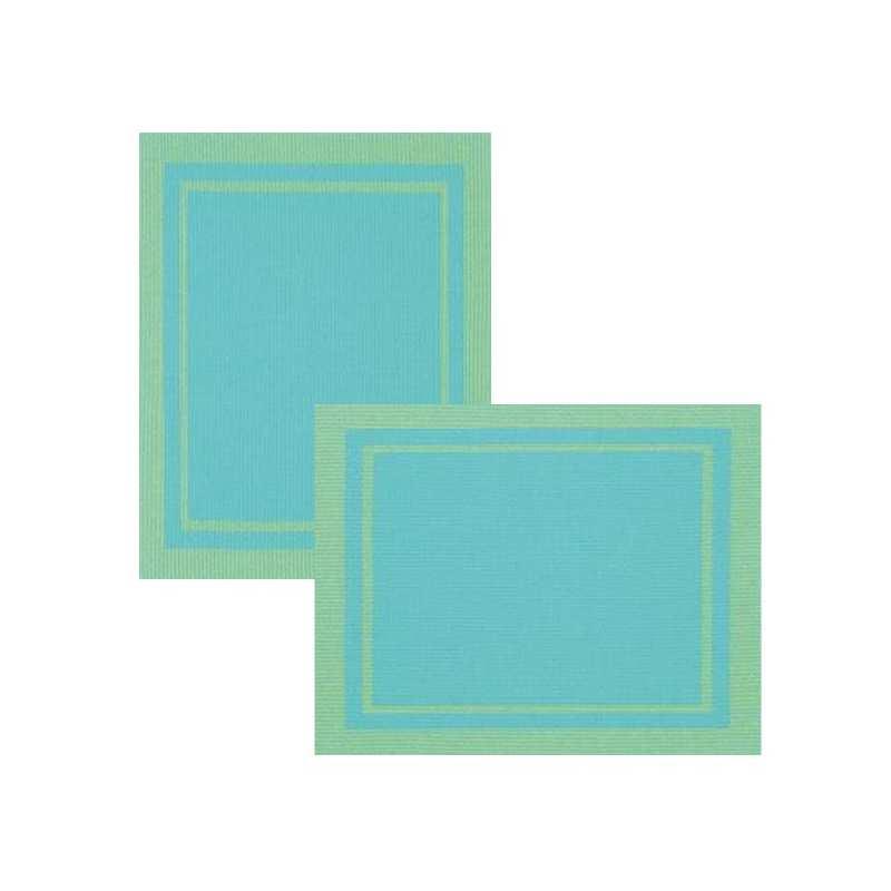 Lot de 6 sets de tables bicolore turquoise la compagnie for Vent du sud linge de maison