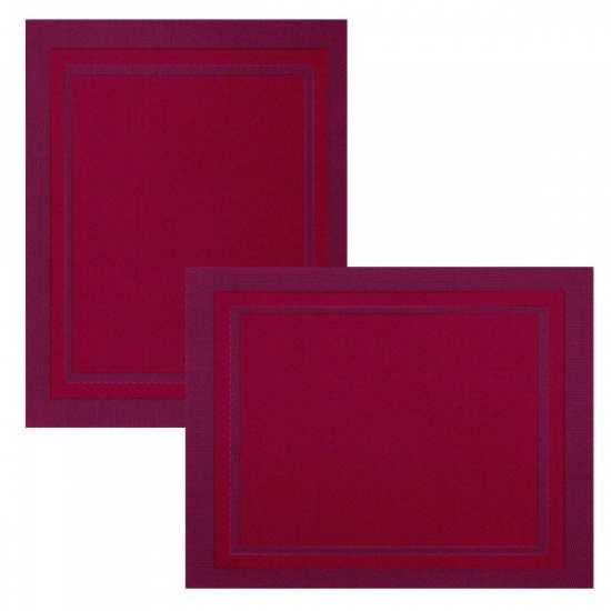 Lot de 6 Sets de Tables Bicolore Pavot