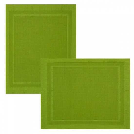 Lot de 6 Sets de Tables Bicolore Olive