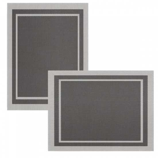 Lot de 6 Sets de Tables Bicolore Basalte