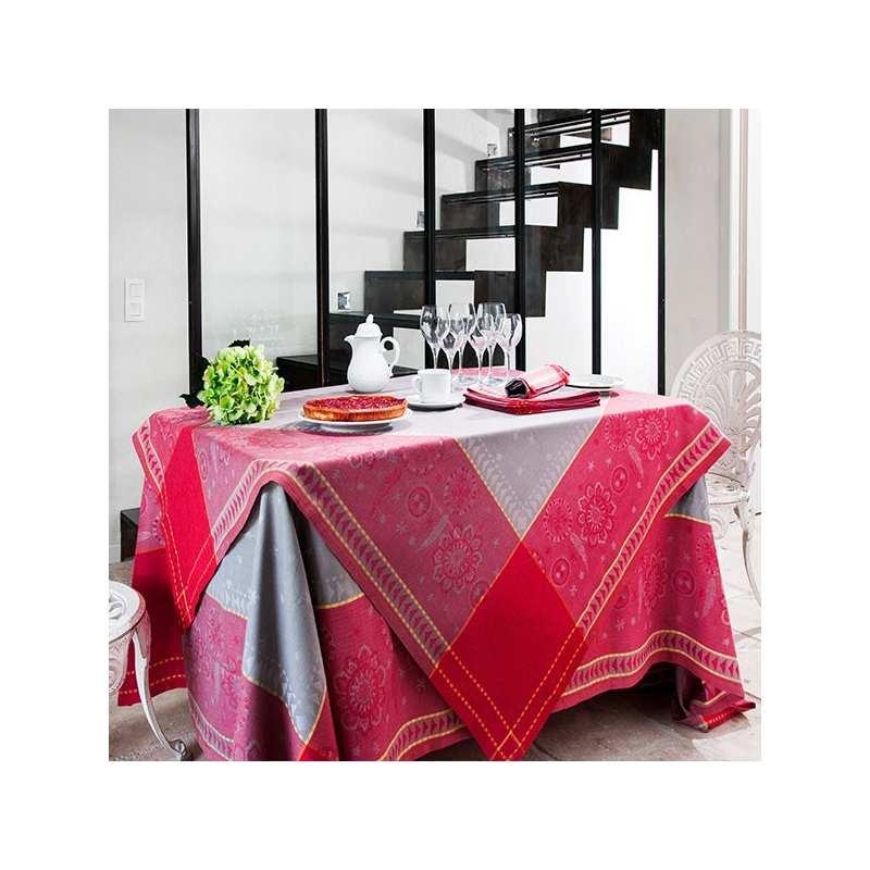nappe cheyenne bordeaux 150x150 vent du sud la compagnie du blanc. Black Bedroom Furniture Sets. Home Design Ideas