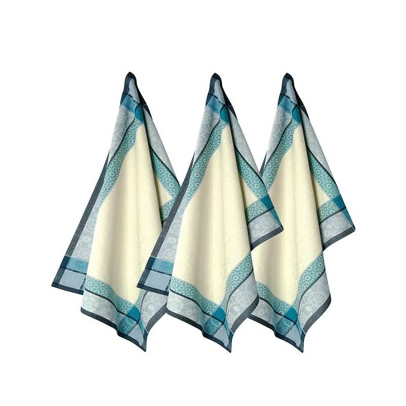Lot de 3 torchons 48x70 saaya topaze vent du sud la - Solde du blanc ...