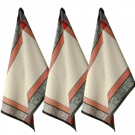 Lot de 3 Torchons 48x70 Saaya Corail - Vent du Sud -