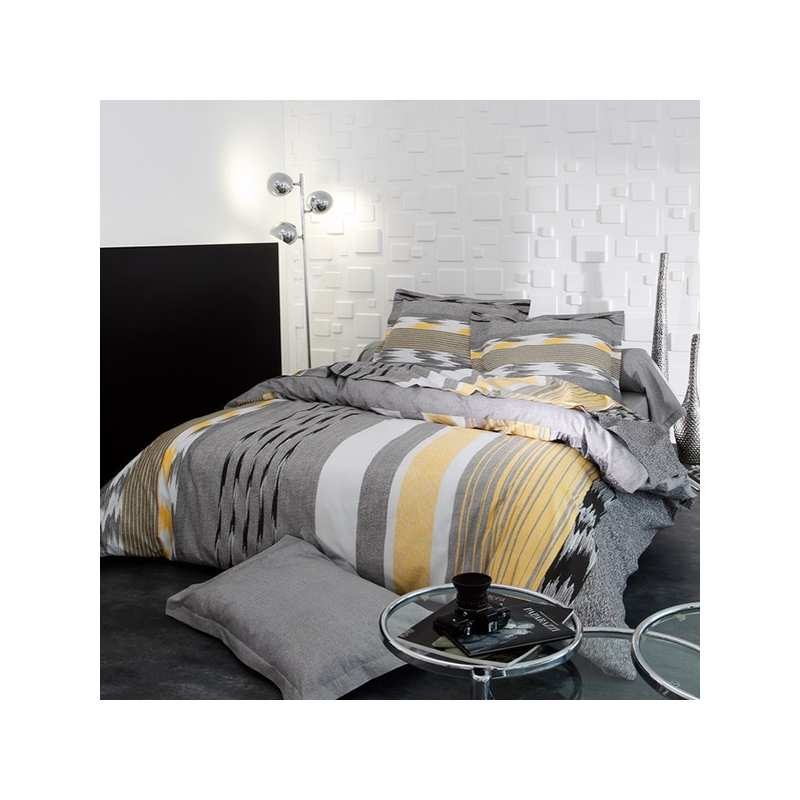 parure de draps soft 4 pi ces dh140 dp240 2to la compagnie du blanc. Black Bedroom Furniture Sets. Home Design Ideas
