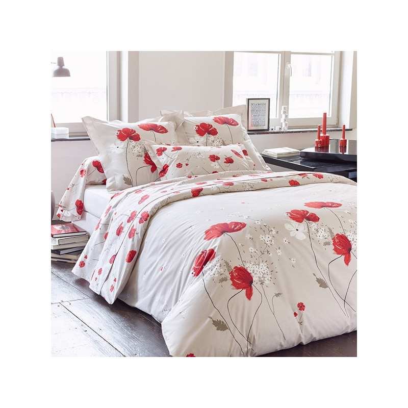 Housse de couette cyb le percale 240x260 2 taies 65x65 for Housse de couette percale 240x260