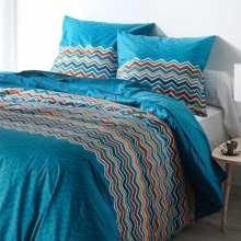 Housse de Couette Essentiel Blue 220x240 + 2 Taies 65x65