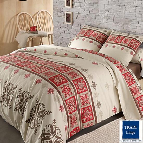 parure de draps flanelle cork rouge 4 pi ces dh140 dp240 2to la compagnie du blanc. Black Bedroom Furniture Sets. Home Design Ideas