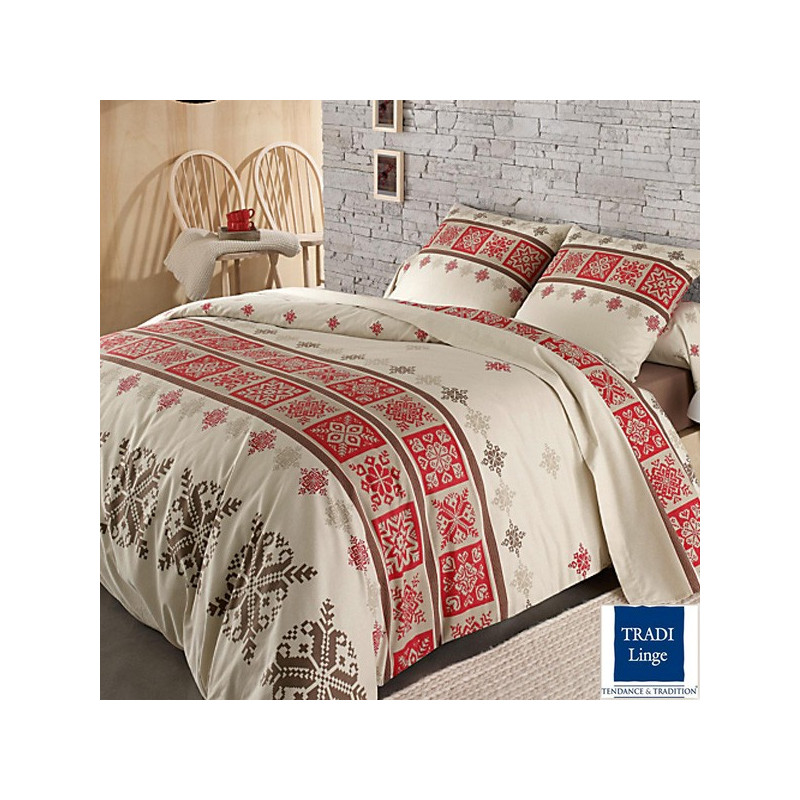 parure de draps flanelle cork rouge 4 pi ces dh140 dp240 2to la compagnie du blanc. Black Bedroom Furniture Sets. Home Design Ideas