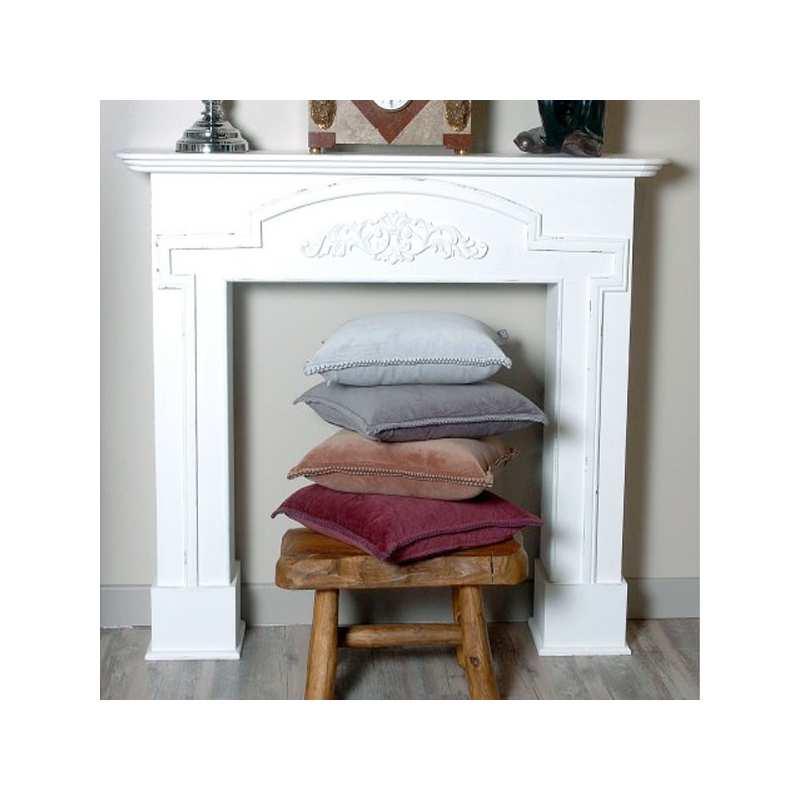 coussin housse unie velours la compagnie du blanc. Black Bedroom Furniture Sets. Home Design Ideas