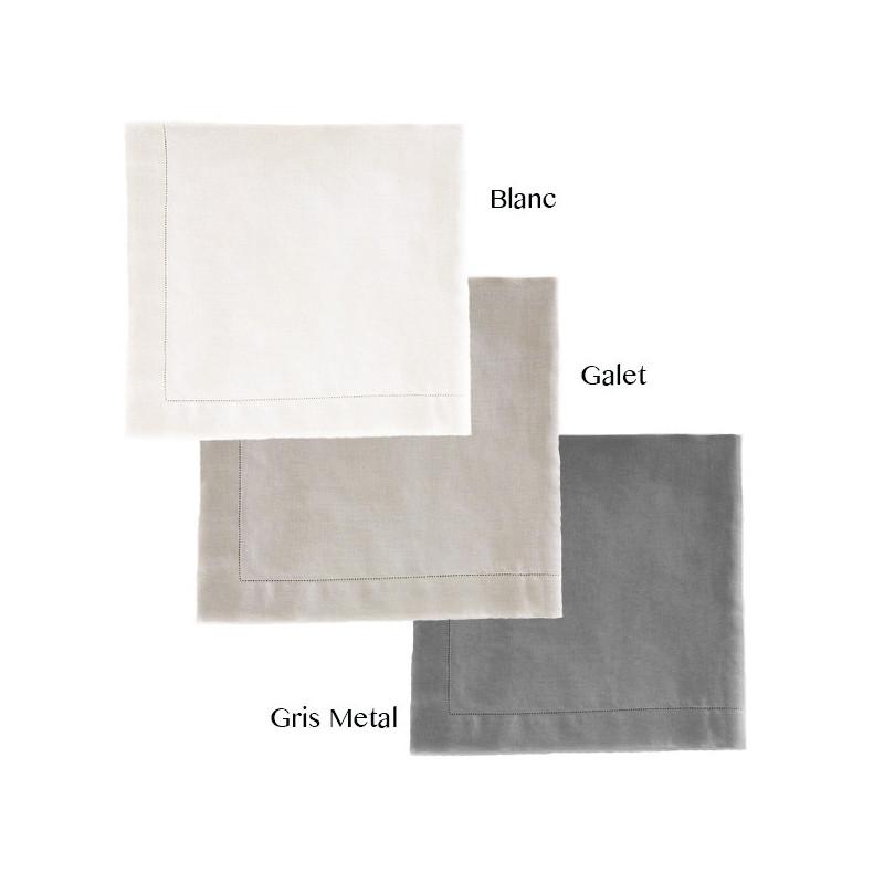 nappe 170x170 luxe 100 lin lav la compagnie du blanc. Black Bedroom Furniture Sets. Home Design Ideas