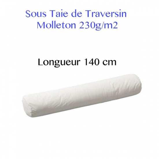 Sous Taie Traversin 140 cm de Long Molleton 230g/m2