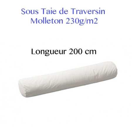 Sous Taie Traversin 200 cm de Long Molleton 230g/m2