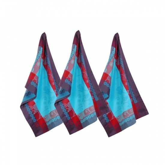 Lot de 3 Torchons 47x75 Izumi Turquoise - Vent du Sud -