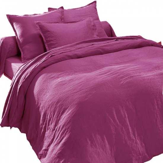 drap plat en pur lin lav luxe violine la compagnie du blanc. Black Bedroom Furniture Sets. Home Design Ideas