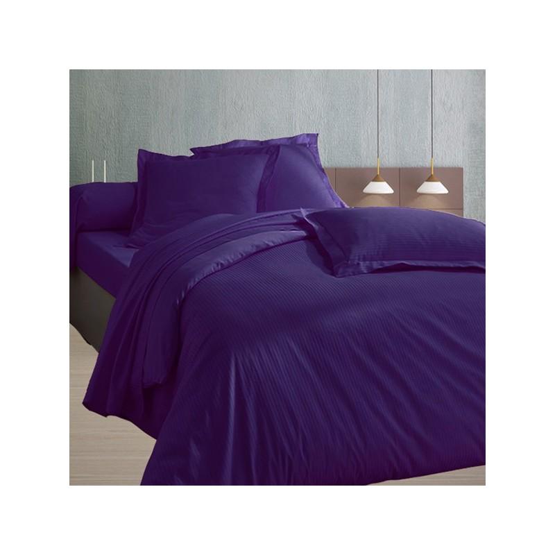 drap en satin de coton prune. Black Bedroom Furniture Sets. Home Design Ideas