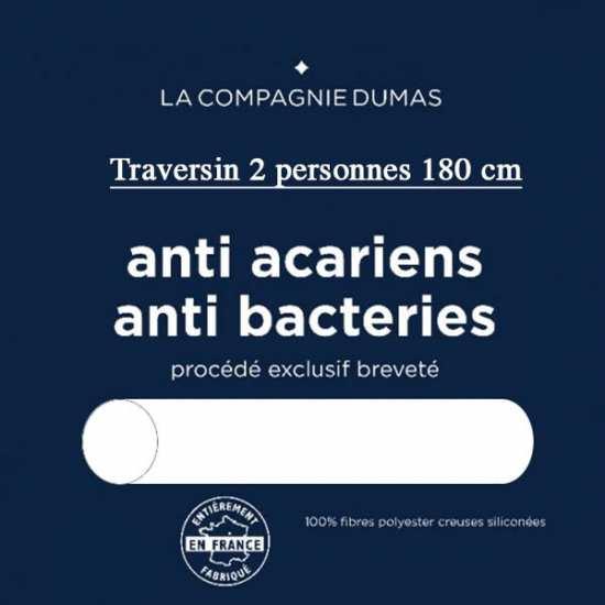 Traversin 2 pers. 180 Confort Sain Anti Acariens/Bacteries La Compagnie DUMAS