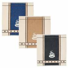 Lot de 3 Essuies Mains Eponge 50x50 Espresso