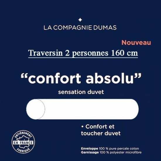 Traversin 2 pers. 160 Confort Absolu La Compagnie DUMAS