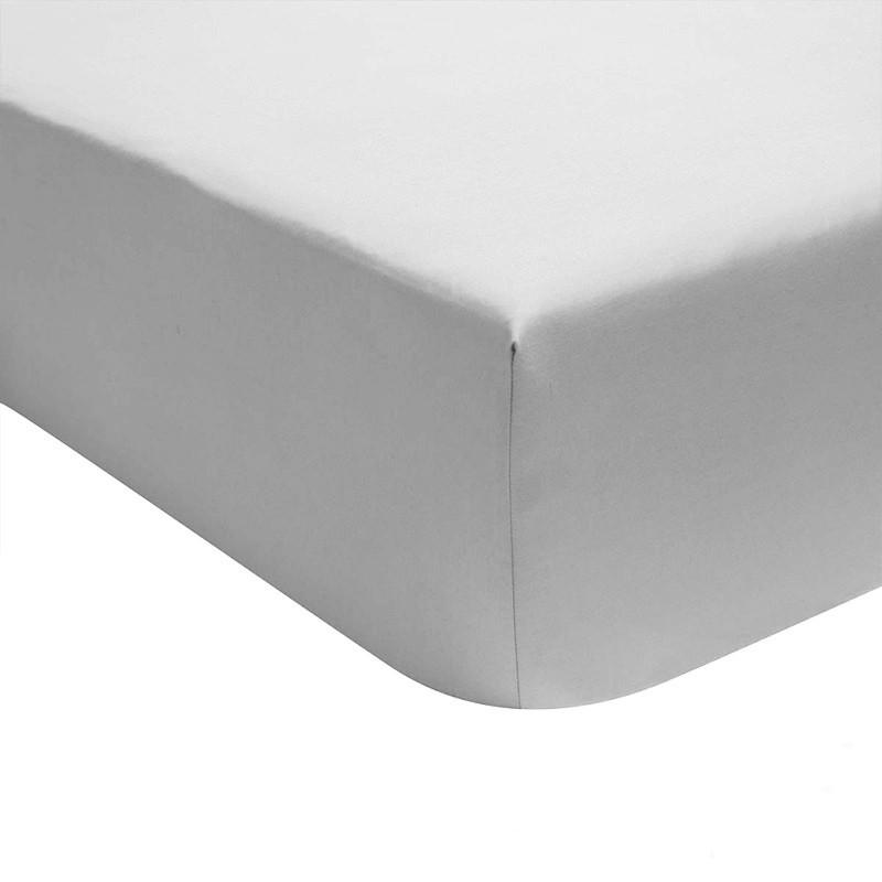 drap housse uni percale 80 fils cm coton peign la. Black Bedroom Furniture Sets. Home Design Ideas