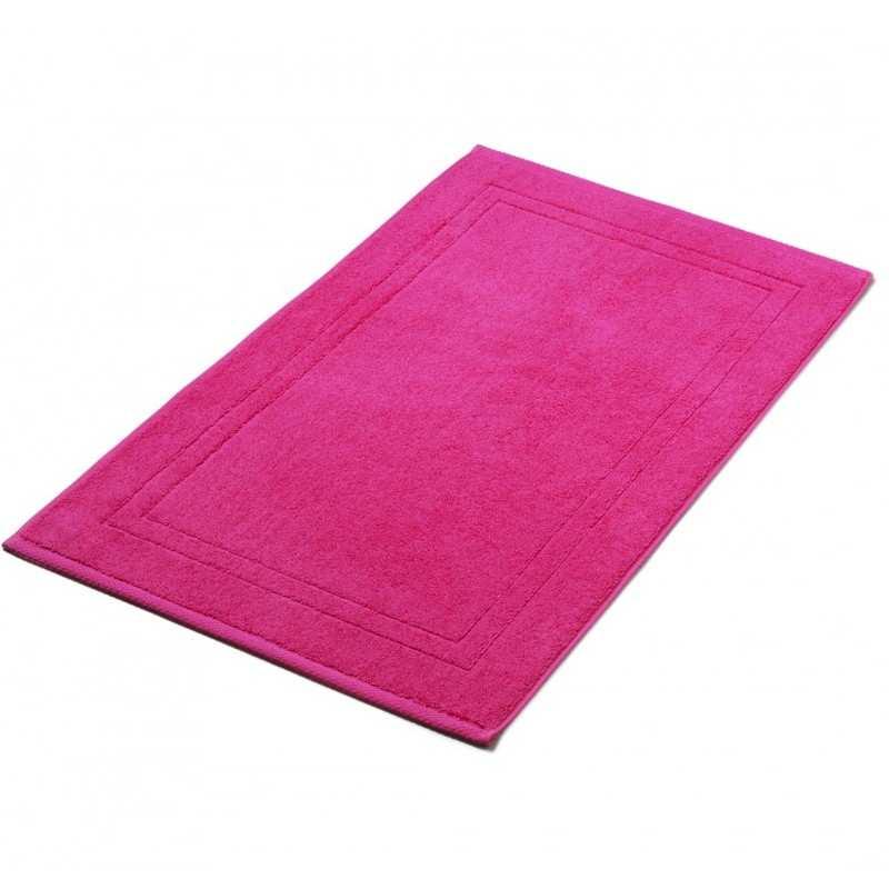 Tapis de bain rose indien 50x80 cm 900gr m2 la compagnie du blanc Tapis de bain de luxe