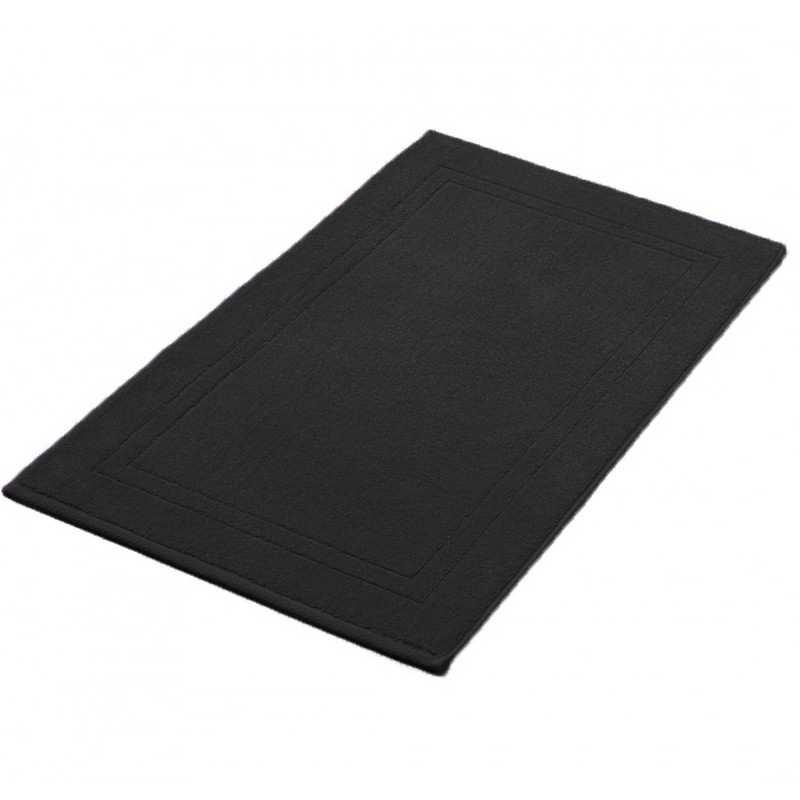 Tapis de bain noir 50x80 cm 900gr m2 la compagnie du blanc Tapis de bain de luxe
