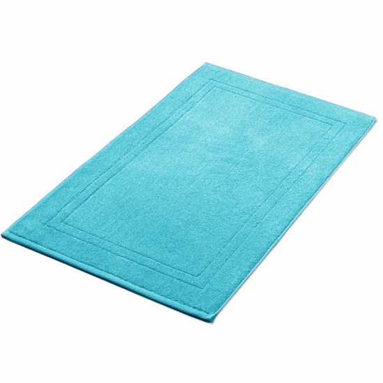 tapis de bain bleu turquoise 50x80 cm 900gr m2 la compagnie du blanc. Black Bedroom Furniture Sets. Home Design Ideas