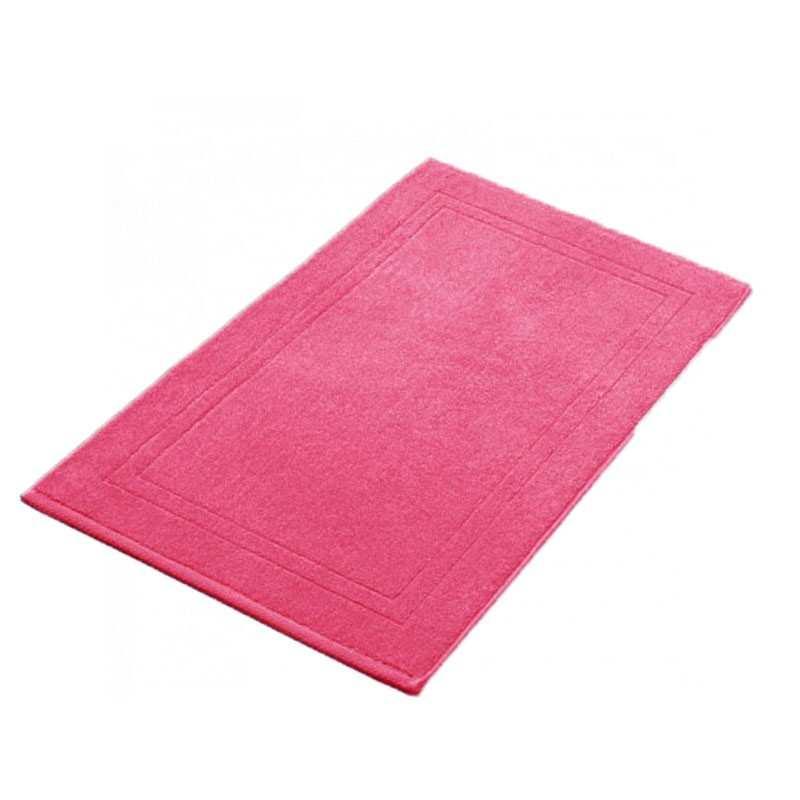 tapis de bain framboise 50x80 cm 900gr m2 la compagnie du blanc