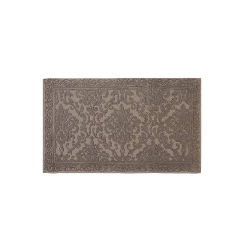 tapis de bain cisel jacquard 60x100 cm 1200gr m2 greige la compagnie du blanc. Black Bedroom Furniture Sets. Home Design Ideas