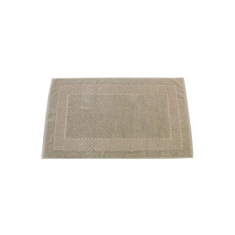 Tapis de bain cadre jacquard 60x100 cm 1200gr m2 ficelle - Solde du blanc ...