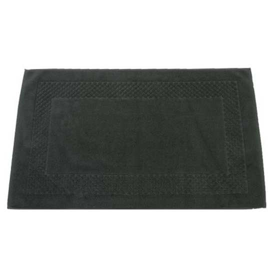 tapis de bain cadre jacquard 60x100 cm 1200gr m2 anthracite la compagnie du blanc. Black Bedroom Furniture Sets. Home Design Ideas