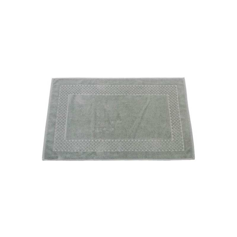 tapis de bain cadre jacquard 60x100 cm 1200gr m2 gris perle la compagnie du blanc. Black Bedroom Furniture Sets. Home Design Ideas