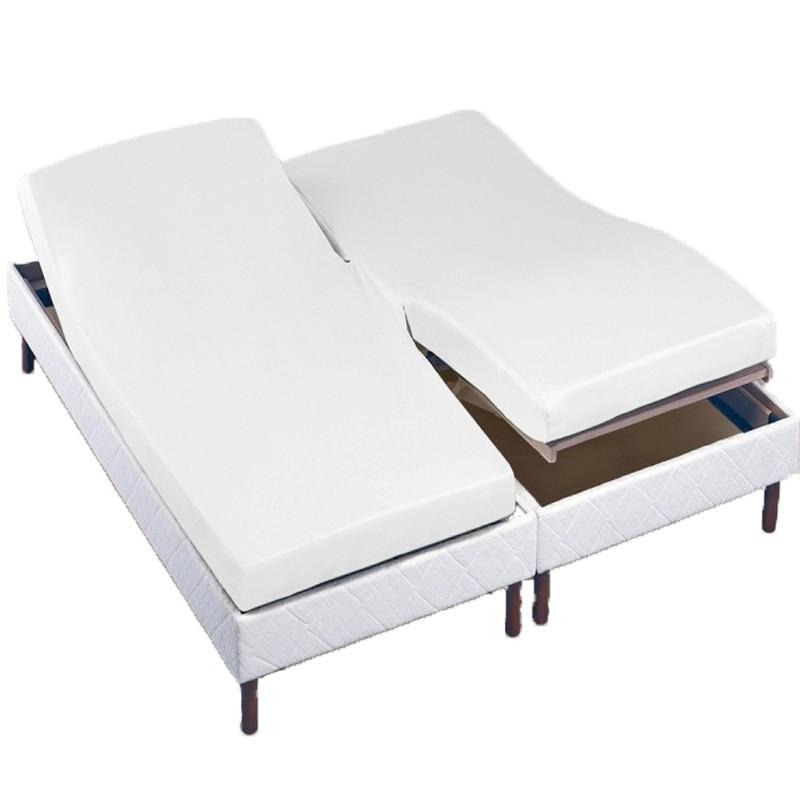protege matelas t te et pied relevable molleton 230g m2 la compagnie du blanc. Black Bedroom Furniture Sets. Home Design Ideas