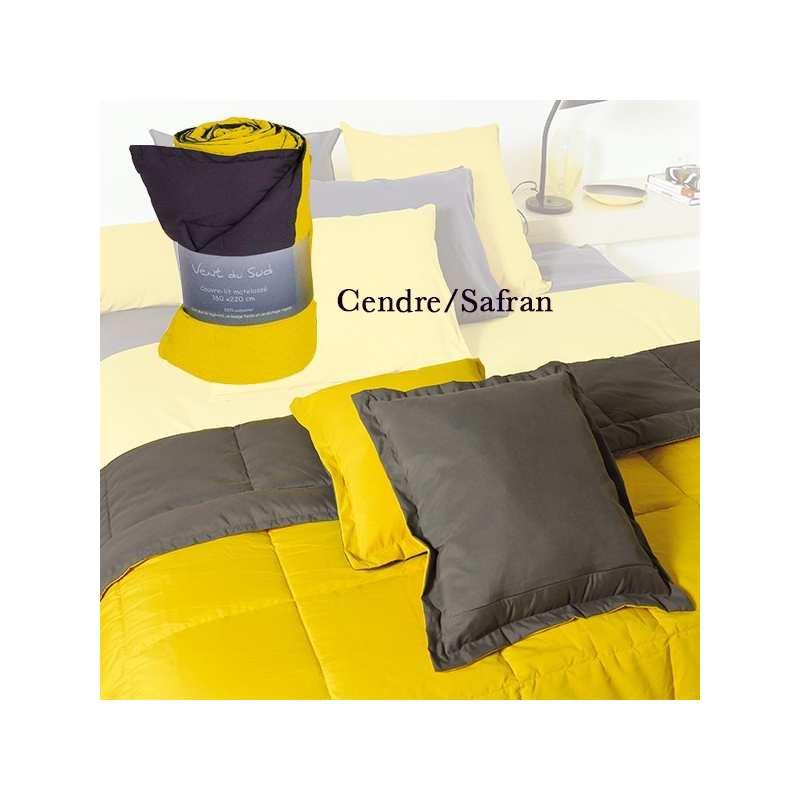 couvre lit couette t tasman bicolore 160x220 la compagnie du blanc. Black Bedroom Furniture Sets. Home Design Ideas