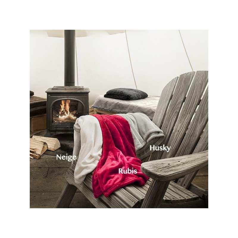 couverture polaire 180x220 extra moelleuse la compagnie du blanc. Black Bedroom Furniture Sets. Home Design Ideas