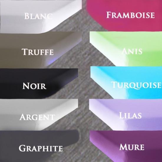 drap housse extensible largeur 180 200 x longueur 200 220 la compagnie du blanc. Black Bedroom Furniture Sets. Home Design Ideas