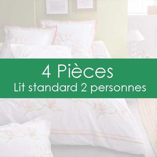 """""""Parure de Draps"""" 4 pièces pour lit Standard 2 personnes"""