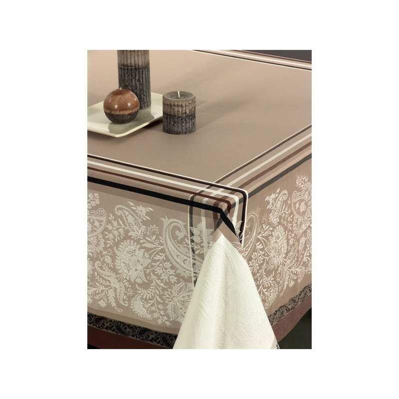 nappes de table coton jacquard - la compagnie du blanc