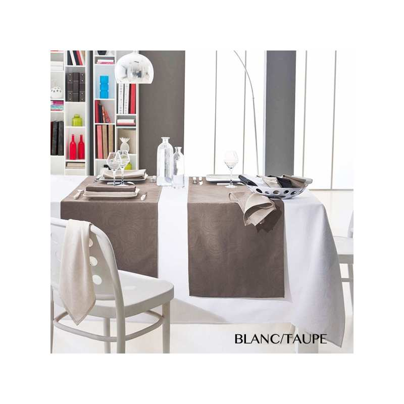 Nappes de Table Spirale Tradilinge - La Compagnie du Blanc