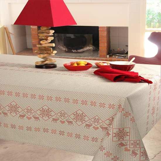 Nappes de table lin ruben la compagnie du blanc for Vent du sud linge de maison