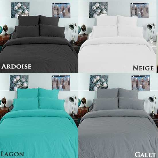 linge de lit coton froiss la compagnie du blanc. Black Bedroom Furniture Sets. Home Design Ideas