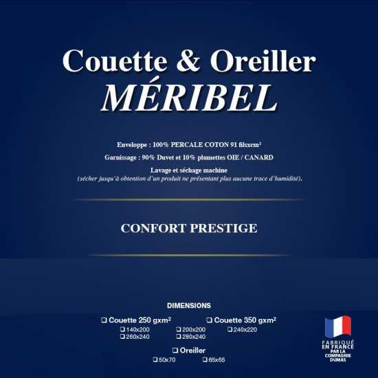 Couette Méribel 90% Duvet Tempérée 250g/m2 La Cie DUMAS