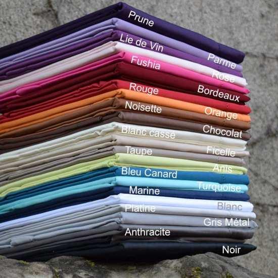 Linge de lit en Satin de Coton Luxe 100% Coton Peigné 120 fils/cm2