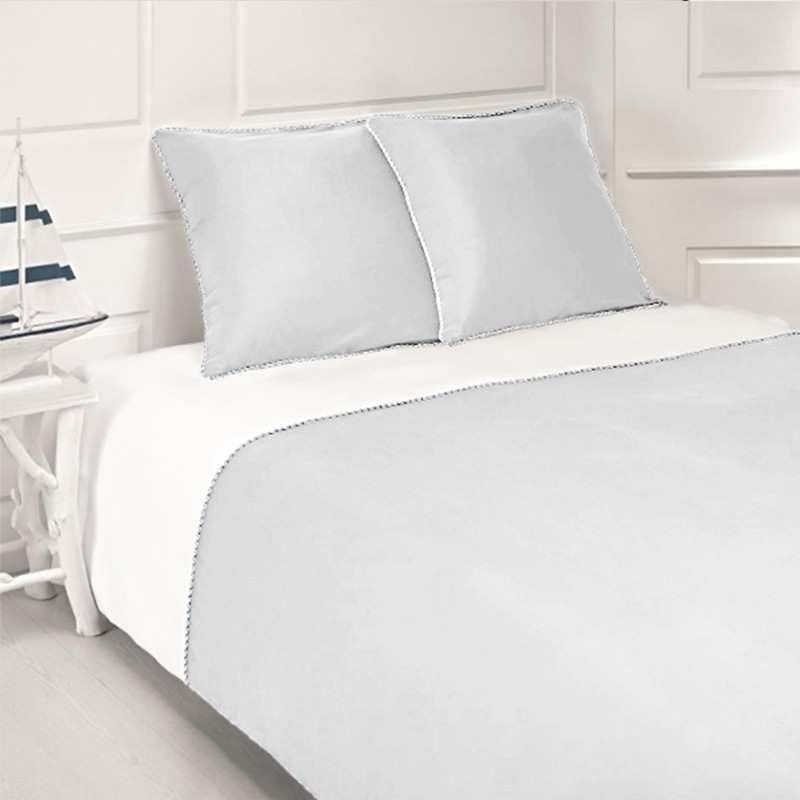 couette satin de coton la compagnie du blanc. Black Bedroom Furniture Sets. Home Design Ideas