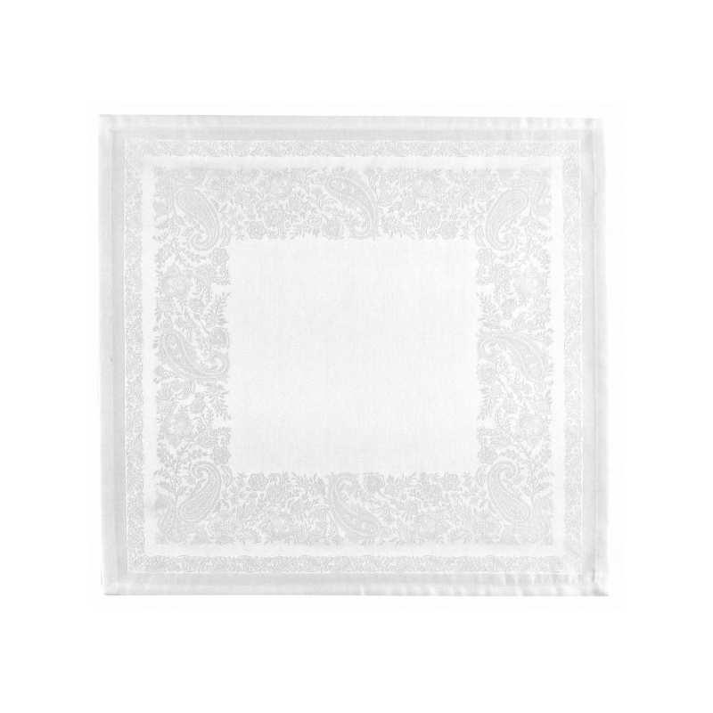 nappe de table trento neige - la compagnie du blanc